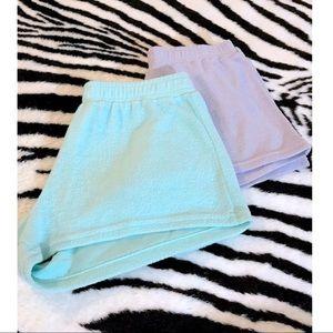 Set of 2 comfy fleece shorts